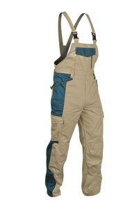Pracovní pánské kalhoty s laclem PRAKTIC