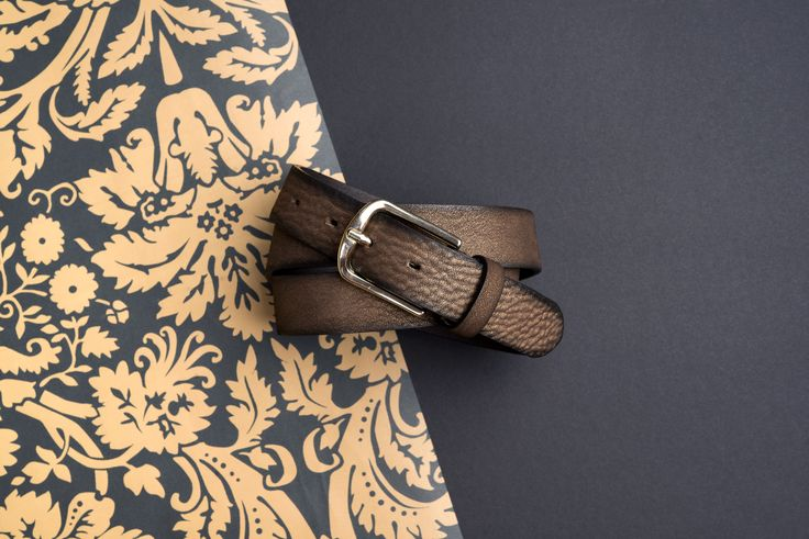 Buckles & Belts - Belt/Gürtel - New Autumn Collection 2016 - Torean - Nubuk-Leather - metal brush cacao - brown - Design in SWITZERLAND made in ITALY https://www.facebook.com/BucklesBelts