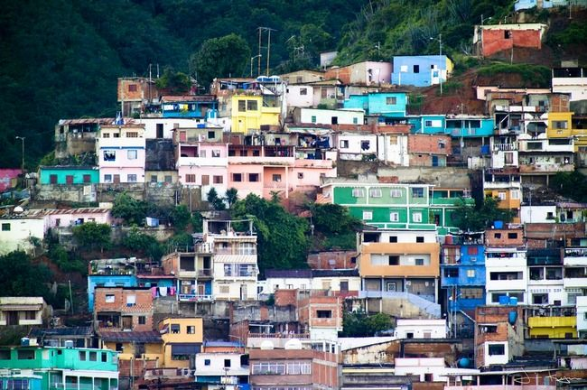 colorful town  | Colorful houses of a barrio in La Guaria, Venezuela. The term barrio ...