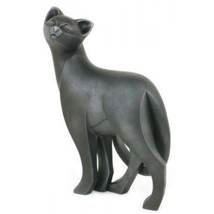 Large Cat Standing Black