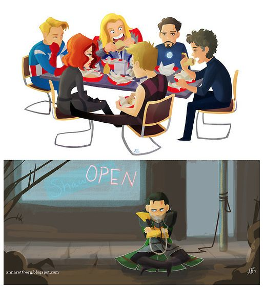 """Super Cute """"Avengers"""" Fan Art - OMG! This is the BEST! Look at Thor's happy face"""