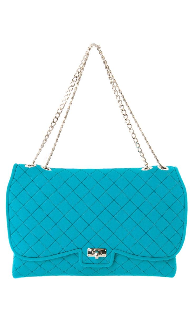Leghilà brillant blue Butterfly matelassè crossbody #bag