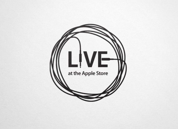 A logo for a series of small concerts held in Apple retail stores