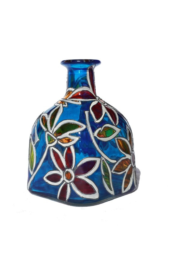 1000 images about art bottles on pinterest for Hand painted glass bottles
