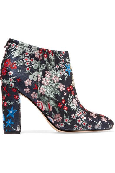 Heel measures approximately 95mm/ 4 inches Multicolored brocade Concealed zip fastening along side