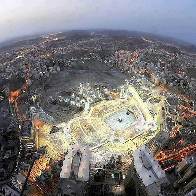 Great view of Khana Kaba at City of Makkah Saudi Arabia.