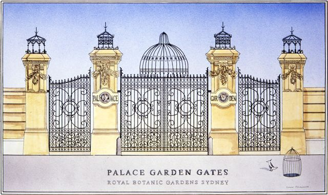 Palace Garden Gates – The Royal Botanic Gardens Sydney. Simon Fieldhouse – Artist