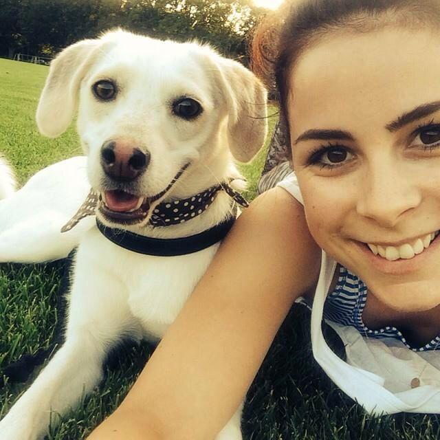 Lena+ihr Hund