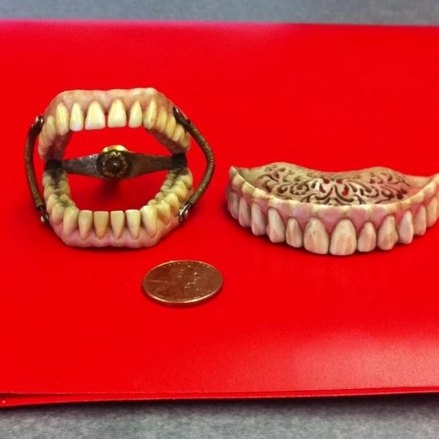 Tiny antique ivory teeth.  www.mydentaltourism.com