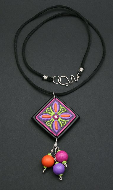 Colourful Dangle Pendant by DorothySiemens, via Flickr