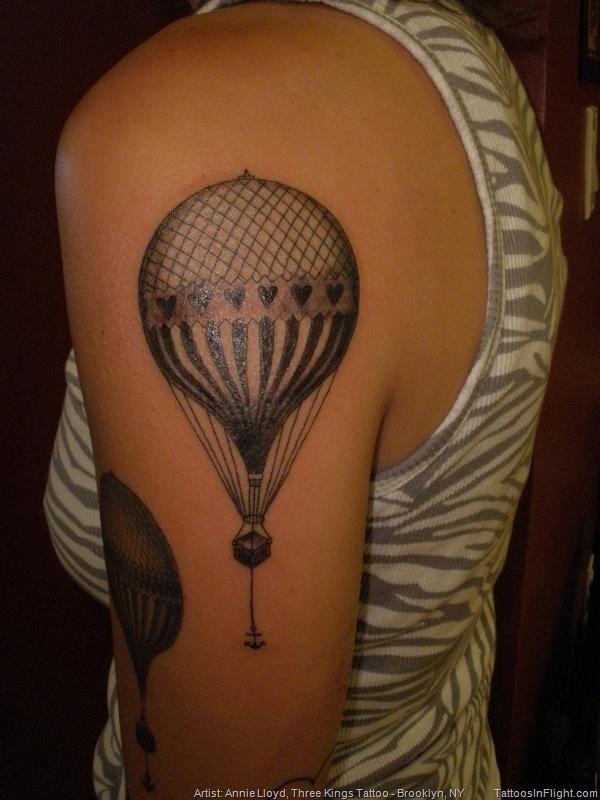 Gas Balloon Envelope Hot Air 19th Century Gondola Flying Flight Aviation Aloft Floating Tattoos In Flight Annie Lloyd Three Kings Tattoo Brooklyn