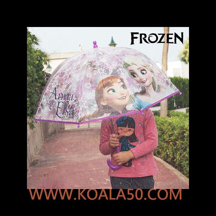 Paraguas Transparente Burbuja Frozen - 4,40 €  ¡El paraguas más famoso del Reino del Hielo ya está al alcance de todas las peques! ¡Te presentamos elparaguas transparenteburbuja Frozen!Estructura: 75% metal, 25 % plásticoCúpula: 100...  http://www.koala50.com/regalos-para-ninos/paraguas-transparente-burbuja-frozen