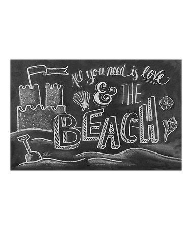 Another great find on #zulily! Beach Chalkboard Mat by Lily & Val #zulilyfinds