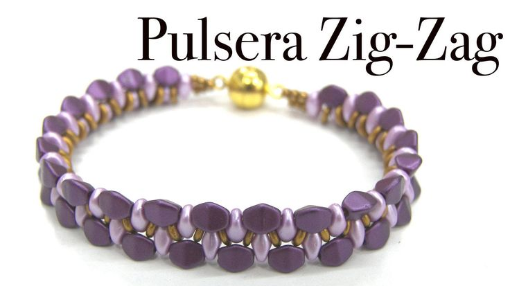 Zig-Zag bracelet with SuperDuo and Pinch beads