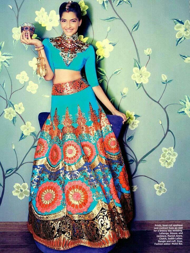 Modern twist to Indian Wedding Lengha! I totally love :)