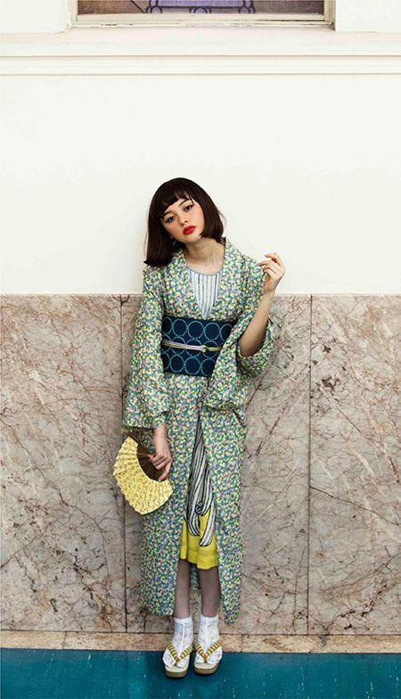 mina perhonen !!!gown cordinated like kimono