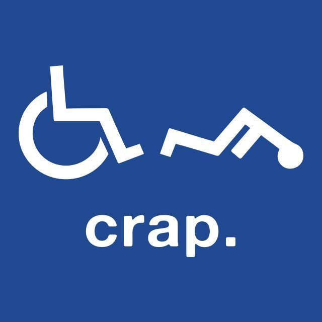 Crap Wheelchair Handicap Funny T SHIRT Disabled Rude Offensive Humor Quality Tee