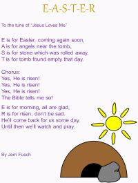 easter song to the tune of jesus loves me