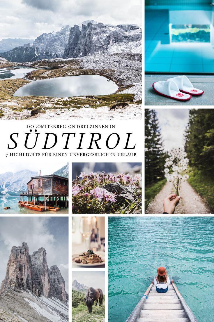 7 Highlights für einen Urlaub in der Dolomitenregion Drei Zinnen in Südtirol