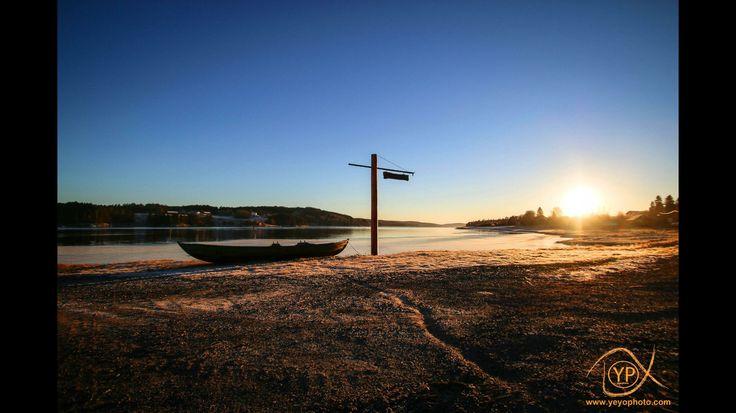 Solnedgang Skiptvet.