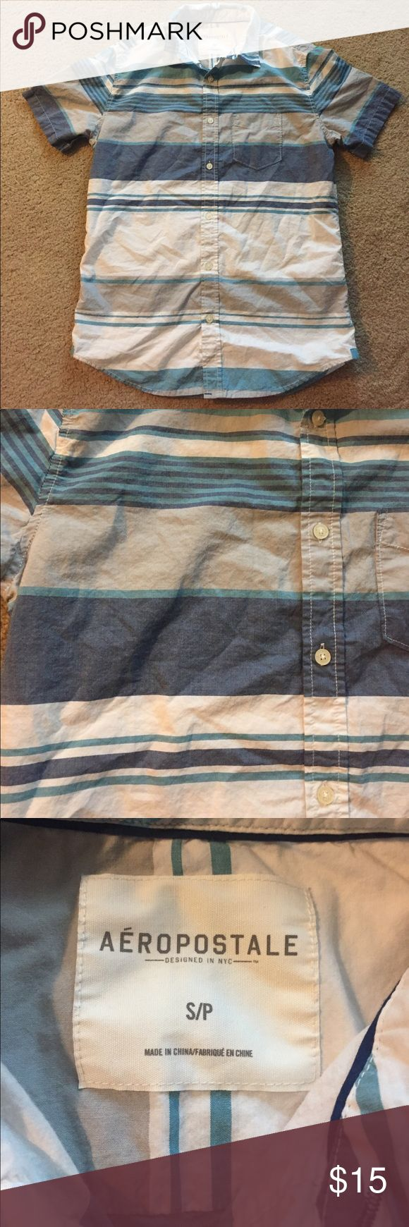 Aeropostale men's' small plaid button up shirt Great condition button up men's plaid shirt... size small by Aeropostale... no stains, rips or holes... Aeropostale Shirts Casual Button Down Shirts