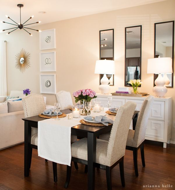 perfect for dining room in an apartment or smal space - decorating idea  http:/
