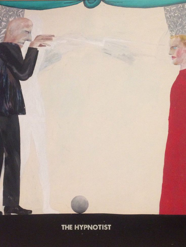 The hypnotist, David Hockney, 1963