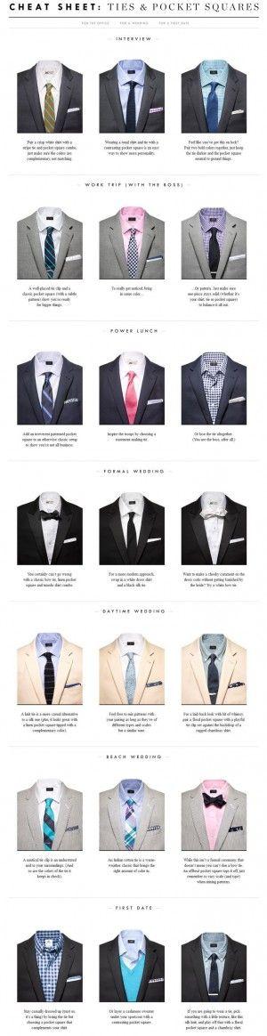 tie and pocket square etiquette