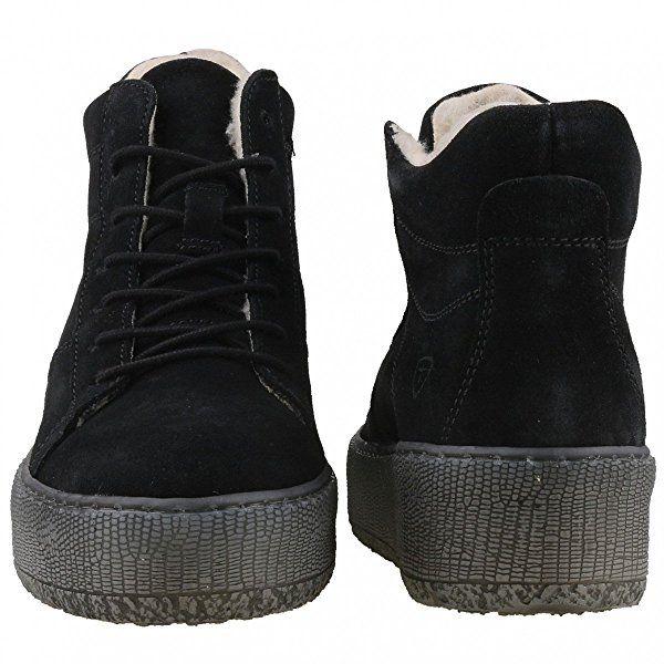 TAMARIS Damen Plateau High-Top Sneakers gefüttert Schwarz, Schuhgröße:EUR 37