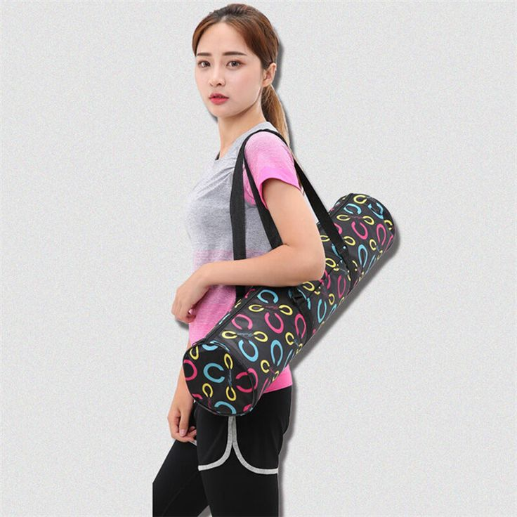 2017 New Canvas Practical Yoga Bag Pilates Mat Carry Strap Drawstring Bag Sport Exercise Gym Fitness Backpack for 6mm Yoga Mat