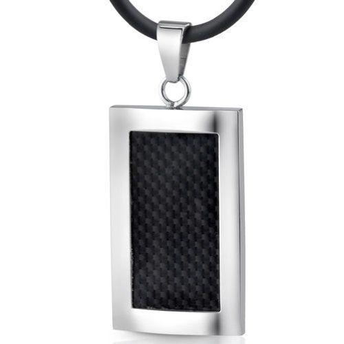 Italian Style Black Carbon Fiber Pendant Necklace for Men: http://www.amazon.com/Italian-Style-Carbon-Pendant-Necklace/dp/B002G3R4XA/?tag=greavidesto05-20