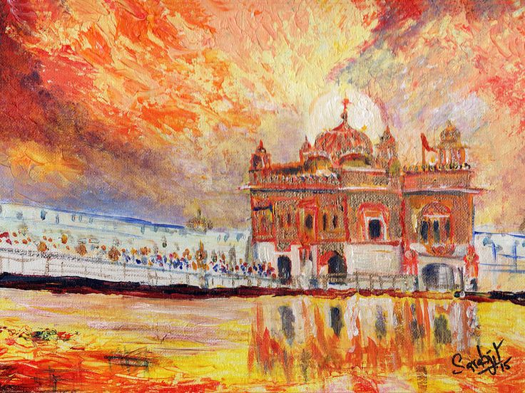 Golden Temple At Day by Sarabjit Singh