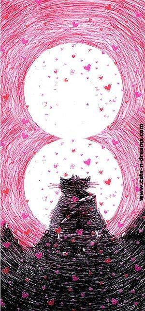 Романтические открытки с котами к 8 марта - скачать ...