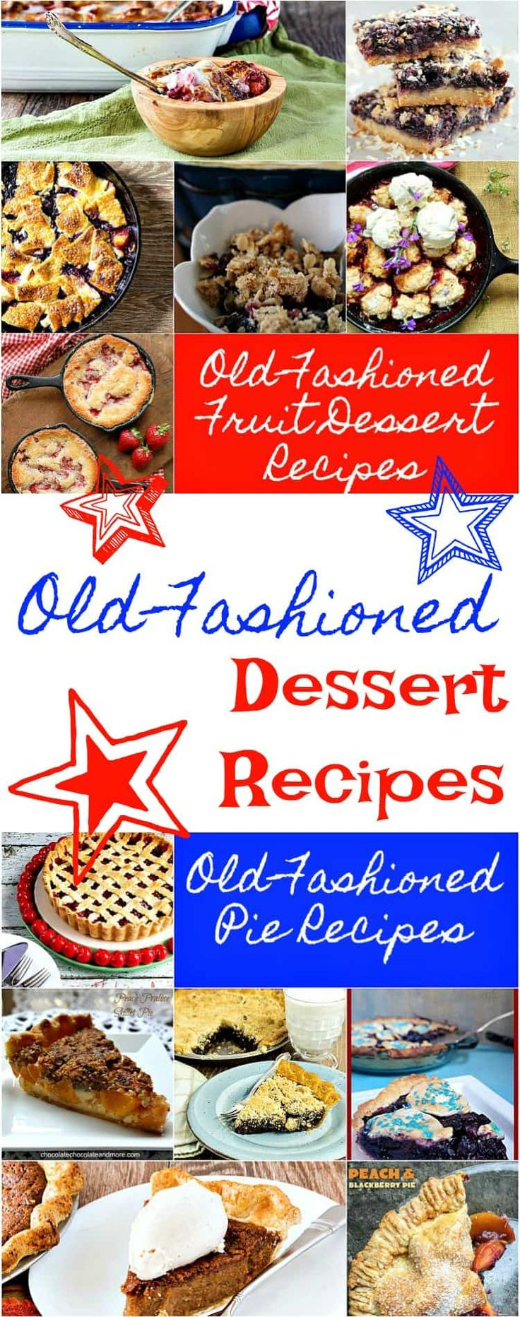 Old Fashioned Desserts are perfect for patriotic celebrations, for picnics and summer cookouts. Be sure to Pin this round up of 29 of the best old fashioned desserts around! | pastrychefonline.com