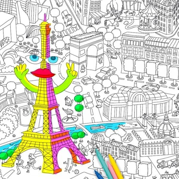 Coloriage Geant En Frise Paris Achat Coloriage Omy Cadeau Maestro Coloriage Geant Coloriage Feuilles A Colorier