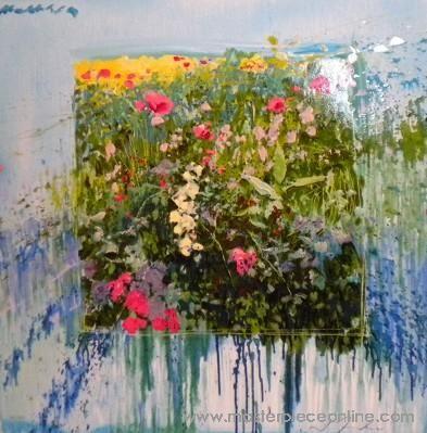 J. Torrents Llado - Flores painting