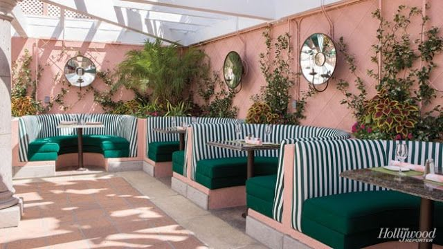 The Glam Pad: The Beverly Hills Hotel: Pink & Green Poolside Renovations