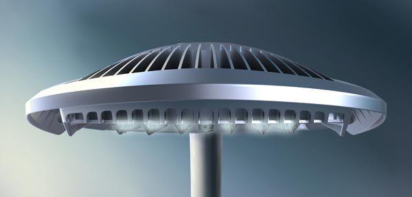 Mobilier urbain, éclairage autoroutier, road lighting, LED lamp. LED projector.