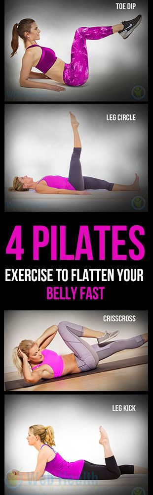 4 Pilates exercise to flatten Your #Belly Fast.