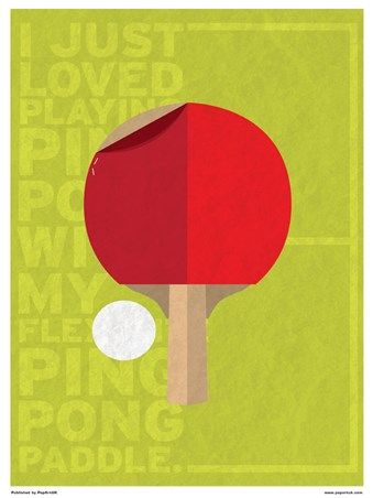 Minimal Movies: Forrest Gump - I Just Loved Playing Ping Pong  http://www.popartuk.com/film/minimal-movies-forrest-gump-xe060-mini-poster.asp  #ForrestGump #PingPong #CultFilm #Comedy #Romance