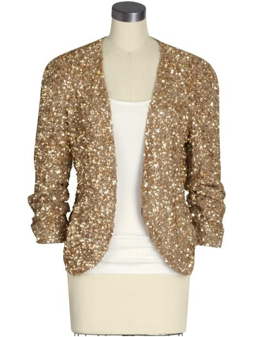 Gold Sequin Cardigan | Holiday Style - Sequin Showstoppers - Blissfully Domestic