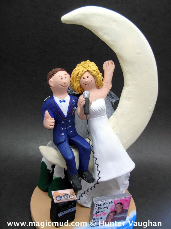 Dress Blues Uniform Wedding Cake Topper      Army, Soldier's, Military Wedding Cake Toppers custom created for you! Perfect for the marriage of an Army Marine Groom and his Bride!    $235   #magicmud   1 800 231 9814   www.magicmud.com