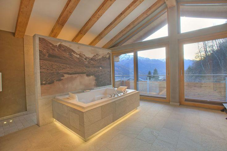 The beautiful Spa, including Jacuzzi and stunning view   Alpenchalet am Wildkogel   Bramberg am Wildkogel