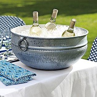Fresco Beverage Bowl | Serena & Lily :): Punch Bowls, Fresco Beverage, Parties Drinks, Lilies, Outdoor Parties, Wine Bottle, Ice Buckets, Beverage Bowls, Alfresco Ideas