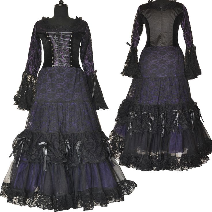 Hot Sale Sweetheart Corset Gothic Purple Wedding Dress: 17 Best Ideas About Gothic Corset Dresses On Pinterest