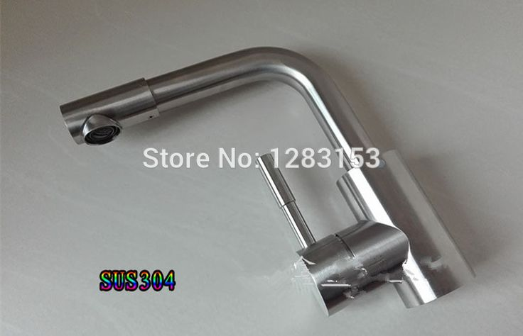high quality SUS 304 stainless steel kitchen faucets single handle mix basin tap bathroom faucets discount kitchen sink tap