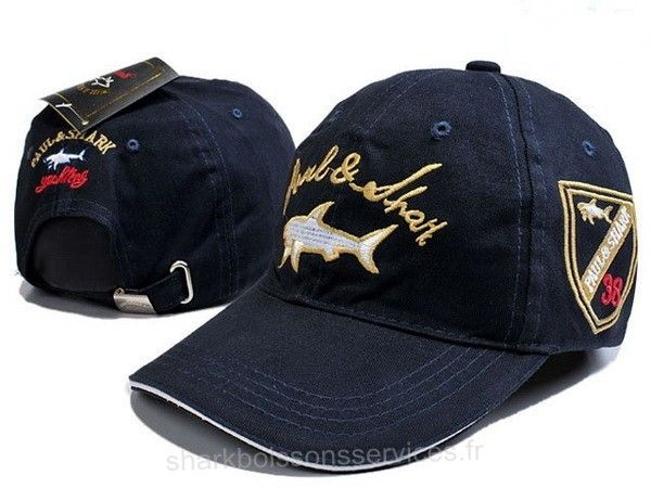 2016 Chaude Paul Shark Homme Yachting Leisure Embroidery Printing Sun Hat Baseball Casquettes Profond Marine