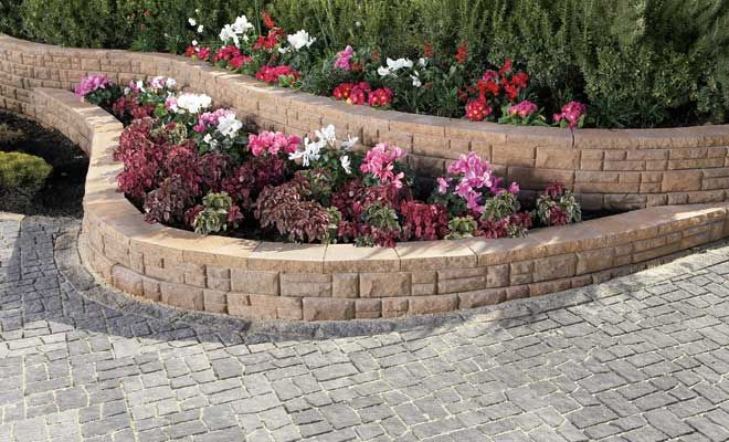 Web Site With Different Stones For Retaining Walls