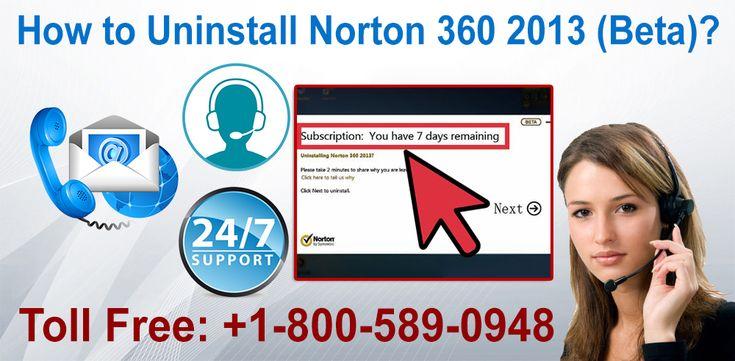 How to Uninstall Norton 360 2013 (Beta)?