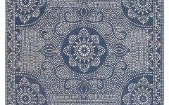 Outdoor Rug Blue Shibori Dot Printed Indoor/outdoor Rug   Blue Jay | Pottery Barn